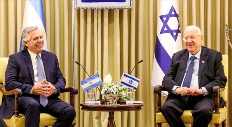 Alberto Fernández en Israel